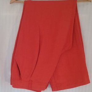 Luisa Spagnoli Designer Coral Pleated Pants | 10
